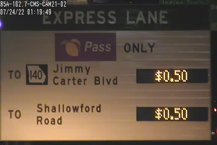 Live camera feed from toll area